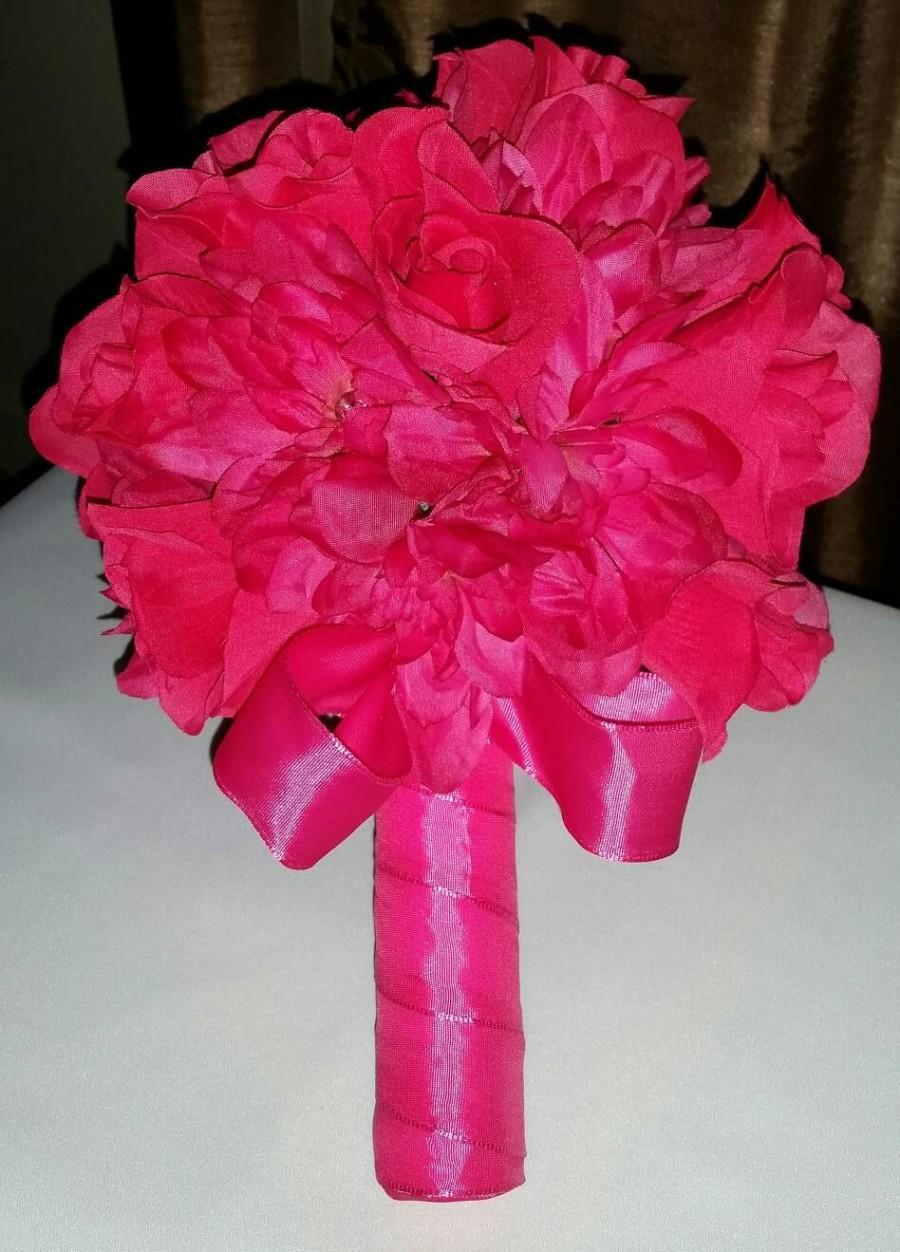 Свадьба - Fuchsia pink passion bouquet