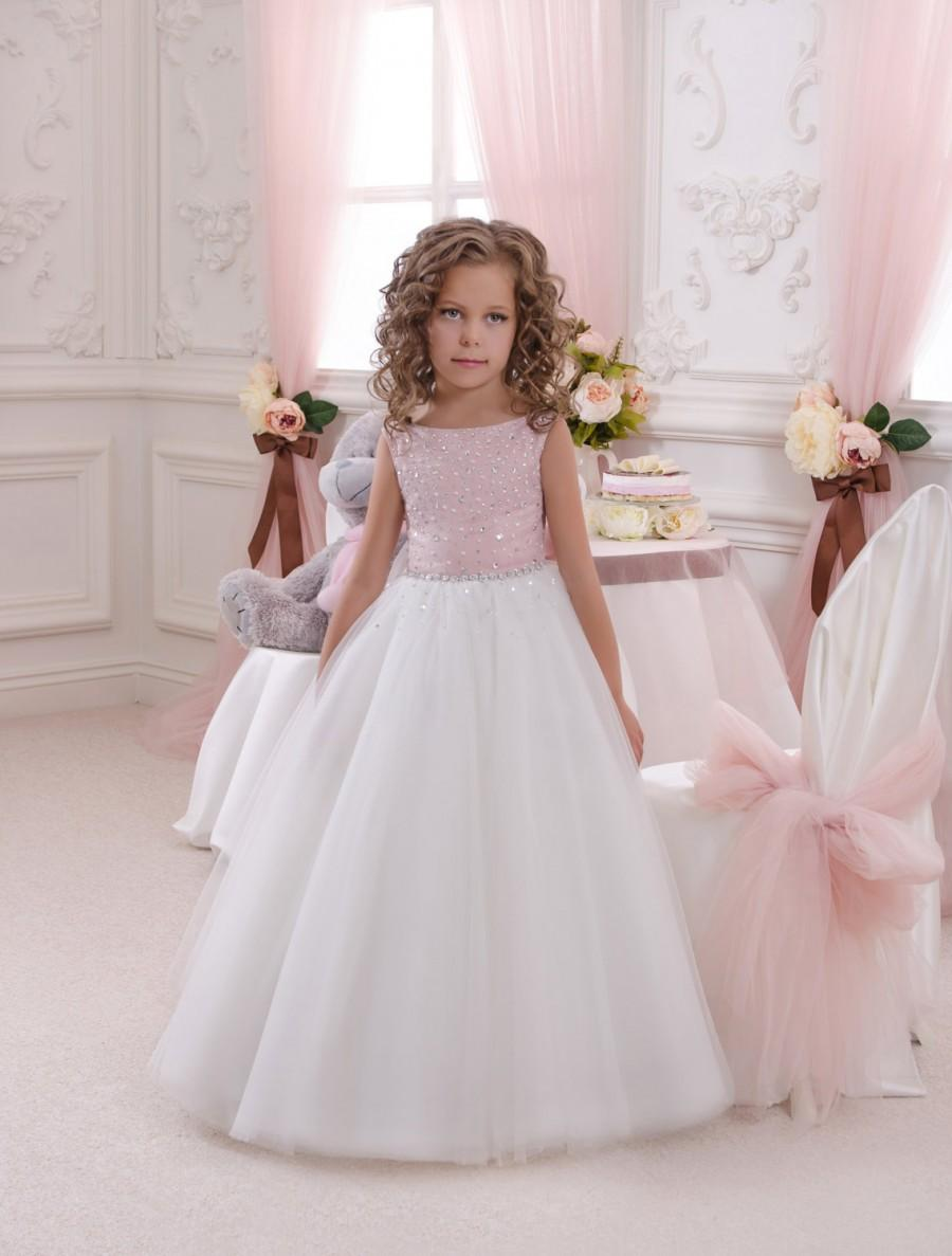 Pink and ivory flower girl dress holiday bridesmaid birthday pink and ivory flower girl dress holiday bridesmaid birthday wedding party ivory and pink flower girl tulle dress dhlflorist Gallery