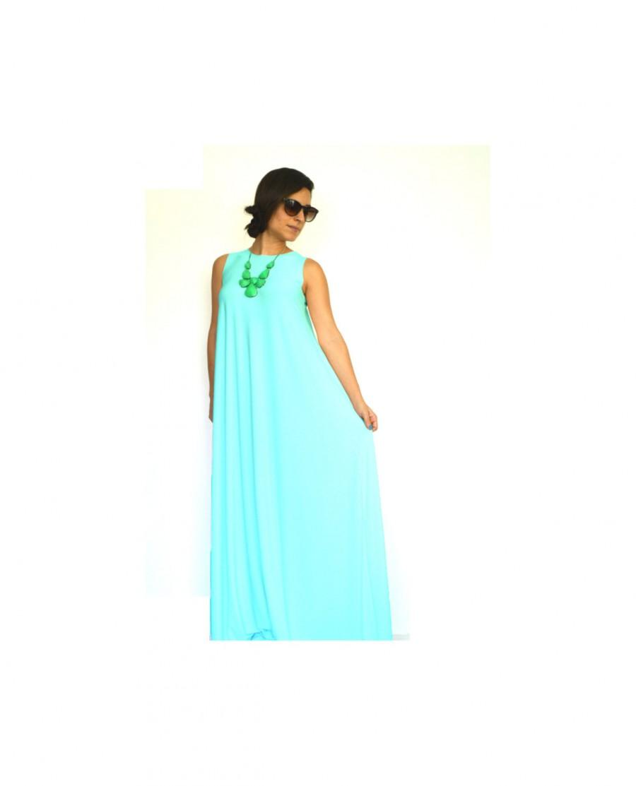 Bridesmaid Maxi Dress, Mint Bridesmaid Dress, Beach Bridesmaid Dress ...