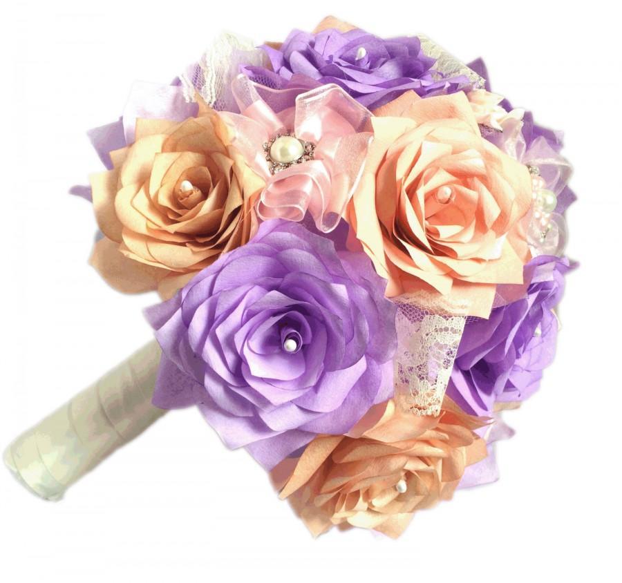 Rose Gold Bouquet, Lavender Wedding Bouquet, Brooch Bouquet, Pearl ...