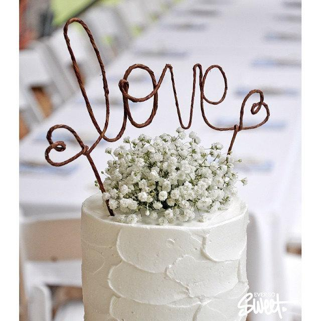LOVE Rustic Wedding Cake Topper Banner   Rustic Wedding Cake Topper, Shabby  Chic Wedding Cake Topper, Barn Wedding, Garden Party