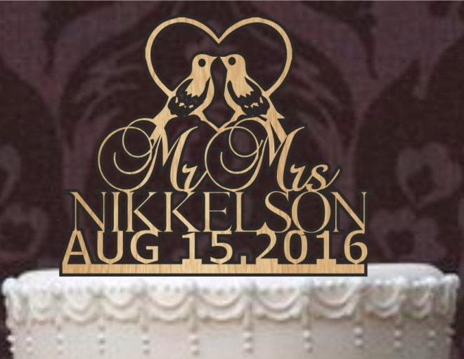 Свадьба - Rustic Wedding Cake Topper, Personalized Cake Topper, Funny wedding cake topper, silhouette wedding cake topper, custom cake topper,