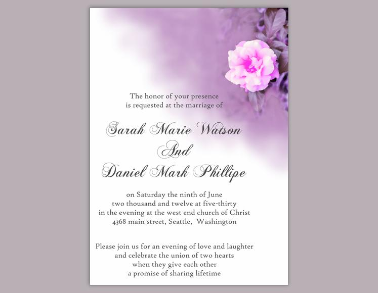 Mariage - DIY Wedding Invitation Template Editable Word File Instant Download Printable Floral Invitation Rose Wedding Invitation Eggplant Invitation