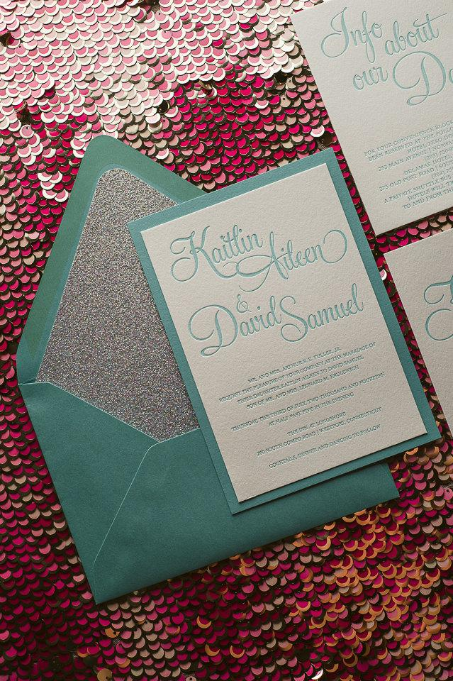 Mariage - Tiffany & Diamond Glitter Wedding Invitation - SAMPLE (Bailey)