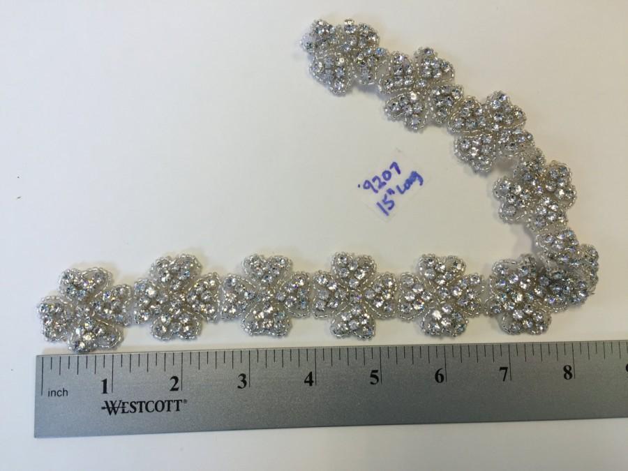 Wedding - 15 Inches Long Inches Long Rhinestone Crystal AB. Motif, Jewellery, Headband,Rhinestone Flexible, Rhinestone,Rhinestone Trims
