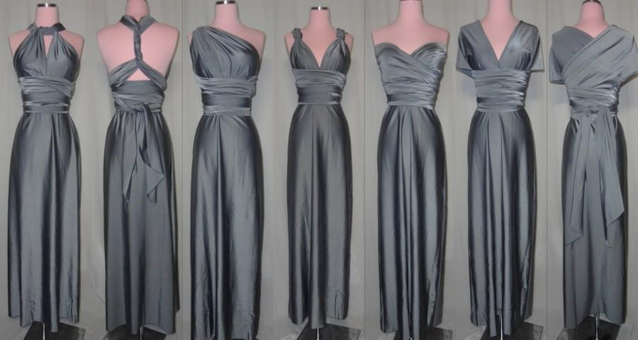Floor Length Convertible Dress 67 Colors Bridesmaids Wedding Honeymoon Prom Tail Party