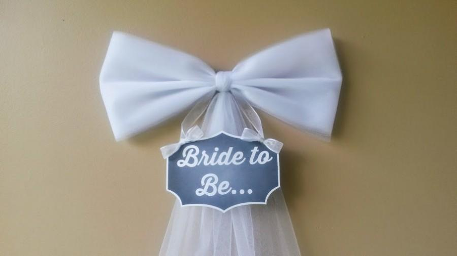 Mariage - Bridal Shower Decoration, Bachelorette Decoration, Bride to Be, Bridal Shower Bow, Party Decoration, Various Colors, Mailbox Door Decoration
