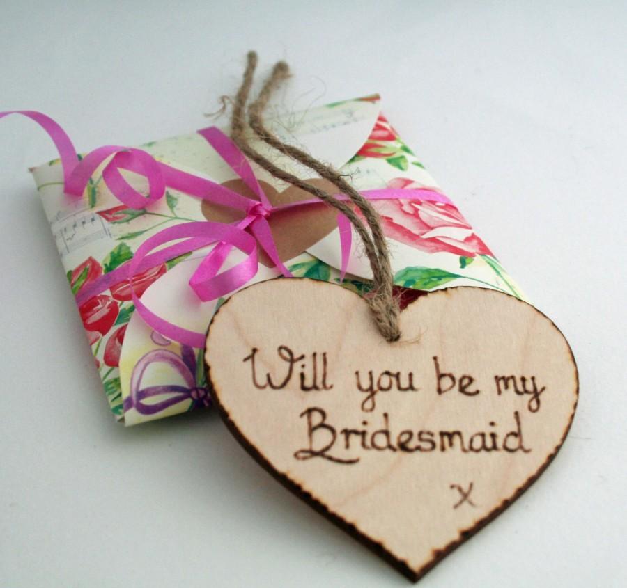 Mariage - Will you be my bridesmaid / Bridesmaid Invite / Wooden Heart / Be my Bridesmaid / invitation