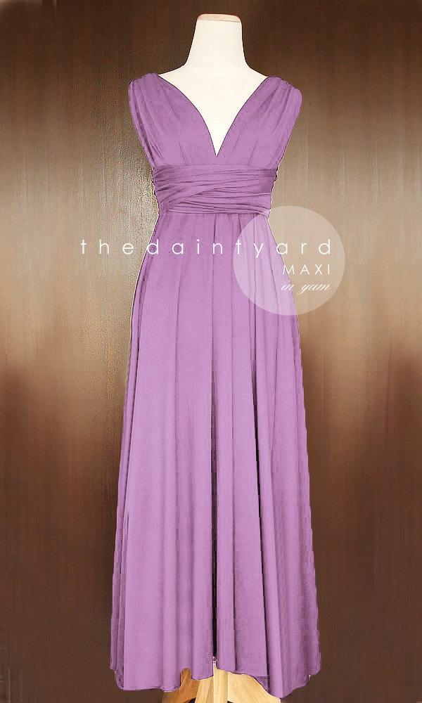 Mariage - PREORDER - MAXI Yam Bridesmaid Dress Convertible Dress Infinity Dress Multiway Dress Wrap Dress Prom Dress Full Length Dress Maxi Dress