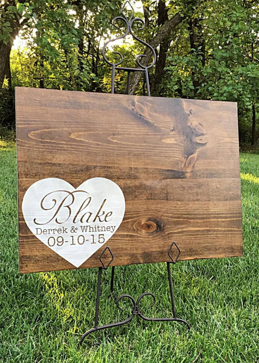 Rustic Wedding Guestbook Personalized Decor Alternative Wood
