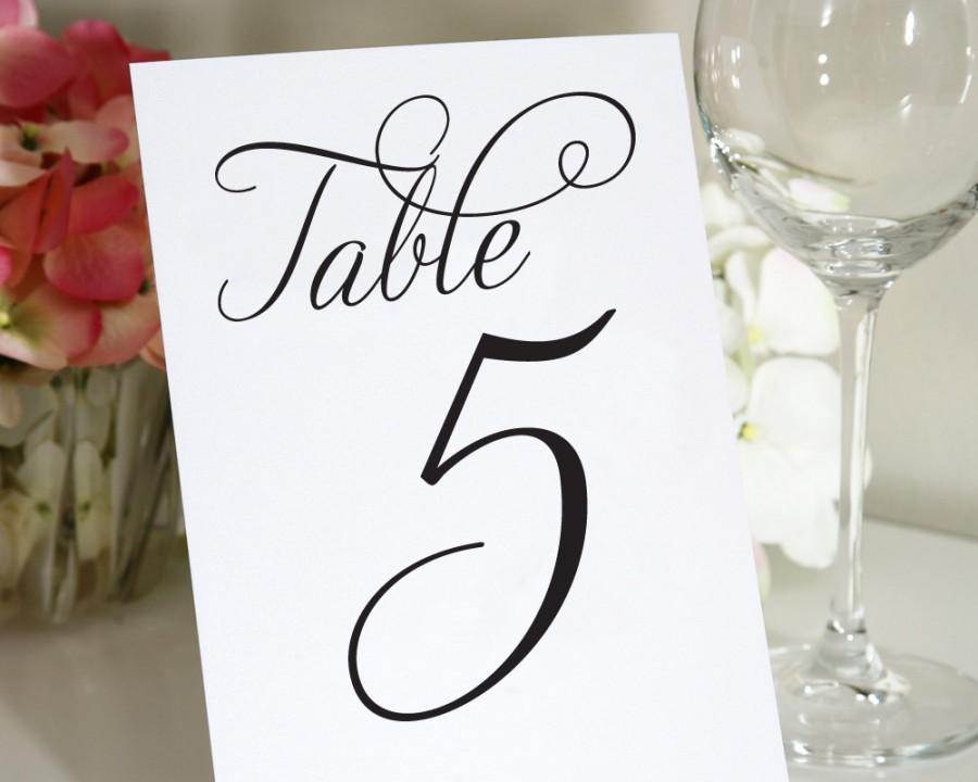 """Mariage - Table Numbers - Any Color - 5x7"""""""