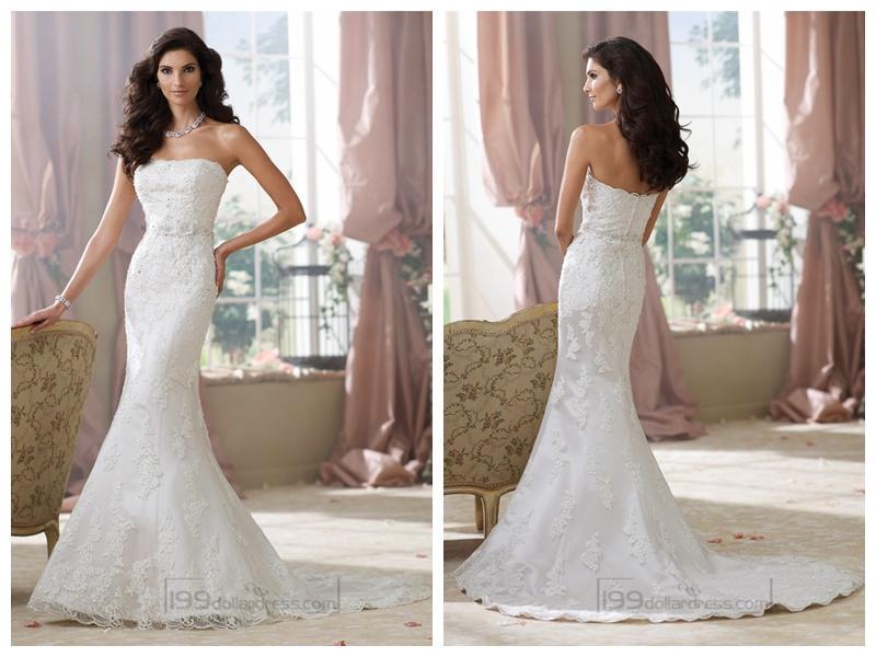 Strapless Lace Appliques Mermaid Wedding Dresses #2452228 - Weddbook