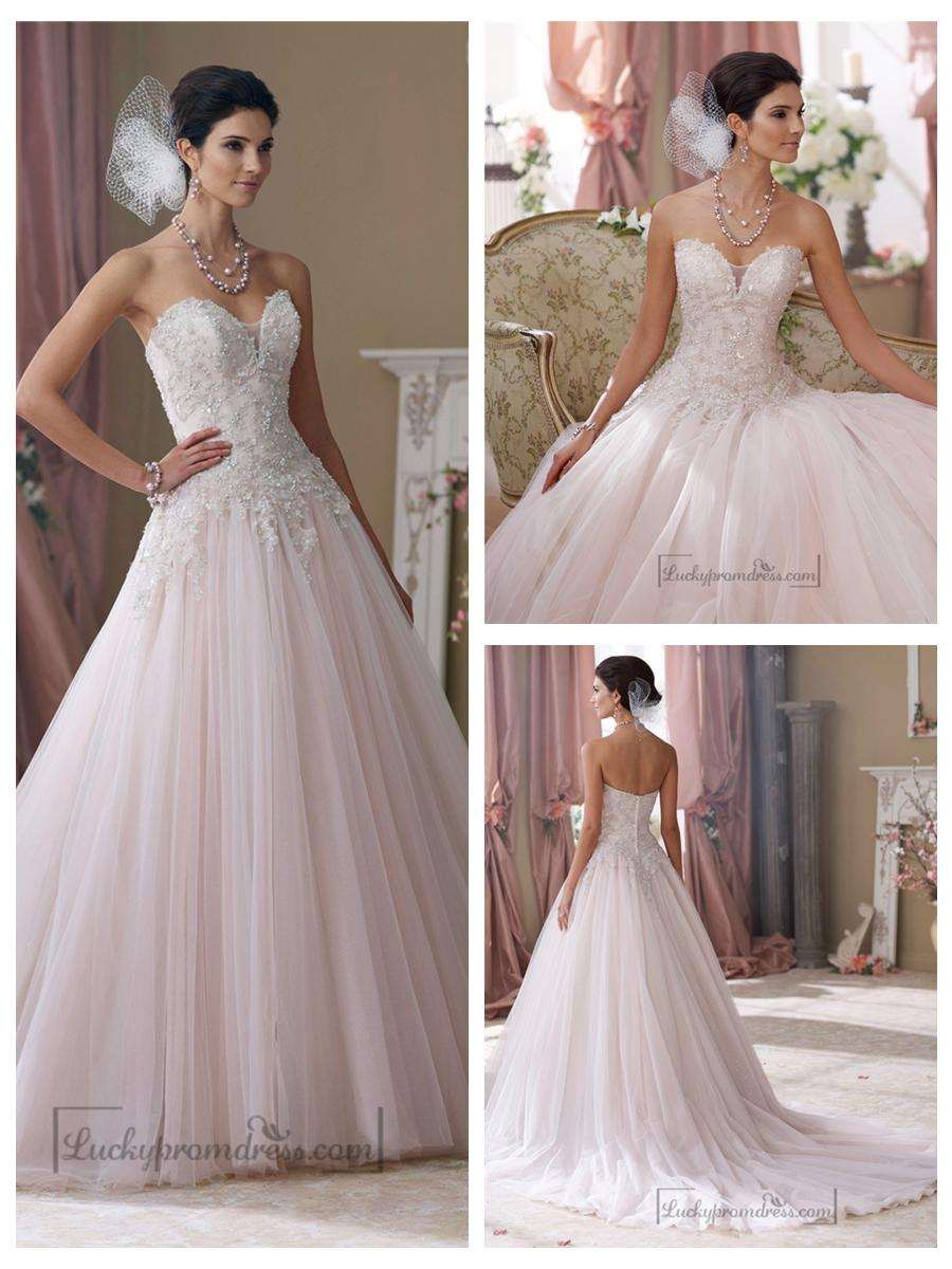 Strapless hand beaded embroidered sweetheart ball gown for Hand beaded wedding dresses