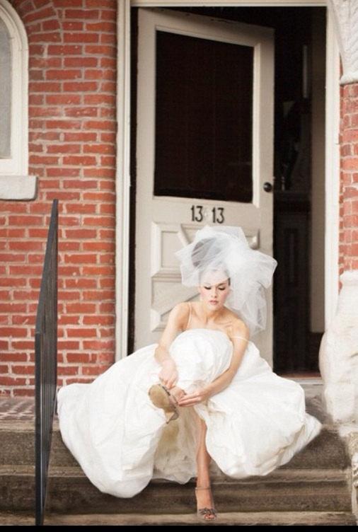 Mariage - Wedding Veil, Bridal Headpiece -- Classy Bubble Veil