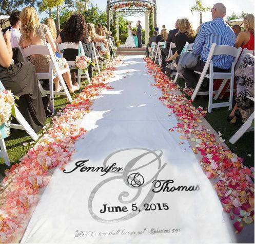 Mariage - Wedding Aisle Runner Design, Custom Logo, Monogram, includes FREE design