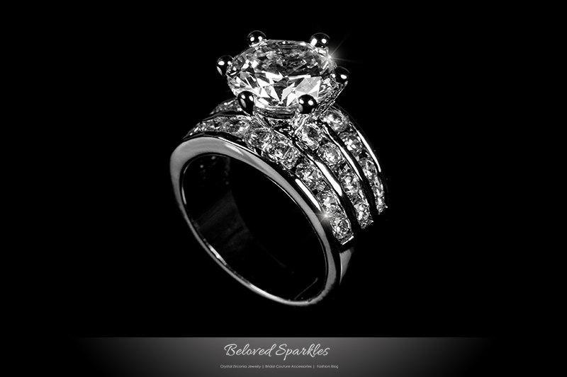 Carat Solitaire Diamond Ring With Diamond Band