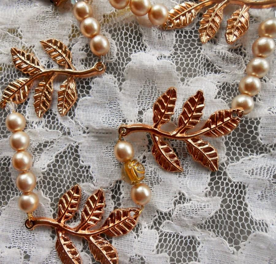 Mariage - Grecian Gold leaf Headband/Boho Headband/Wedding crown/Prom tiara/ Couronne/Goddesshair accessoires,bridesmaid,Gold leaves garland