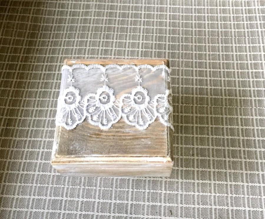 Mariage - Wedding Ring Box Rustic Ring Bearer Box Custom Wood Wedding Ring Bearer Box Rustic Wooden Ring Box