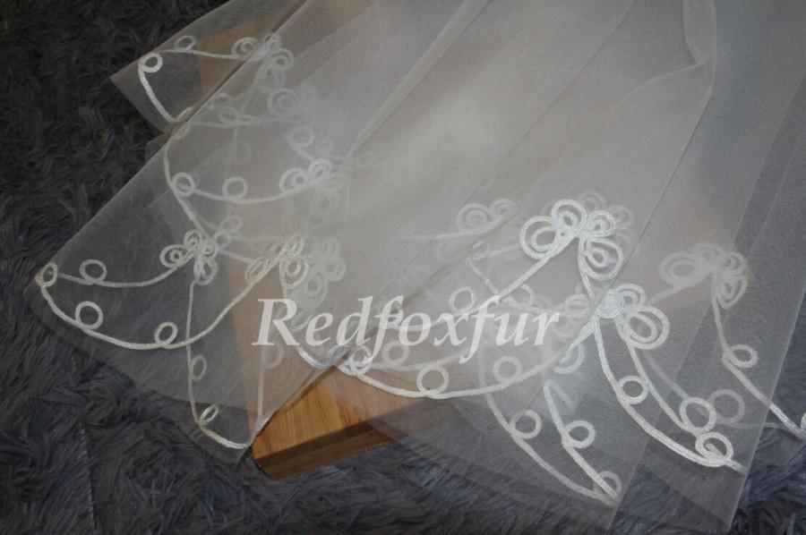 Свадьба - Wedding Veil, Bridal Veil, white veil, ivory veil, wedding accessories, single layer veil,