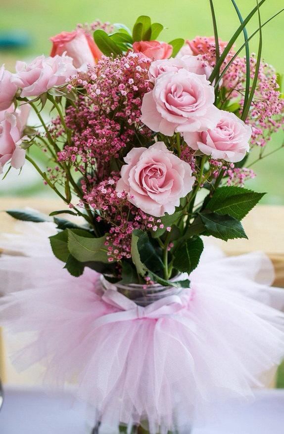 Mariage - Mason jar,Candy Dish Tutu,Ballerina Party Decoration,princess Party Centerpiece,baby shower,tutu table