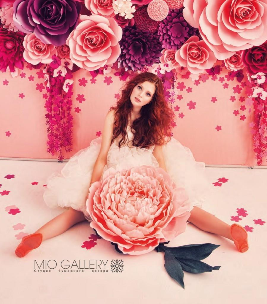 Свадьба - Big Paper Flower - Giant Paper Peony - Paper Flower for Love Story - Single Paper Flower