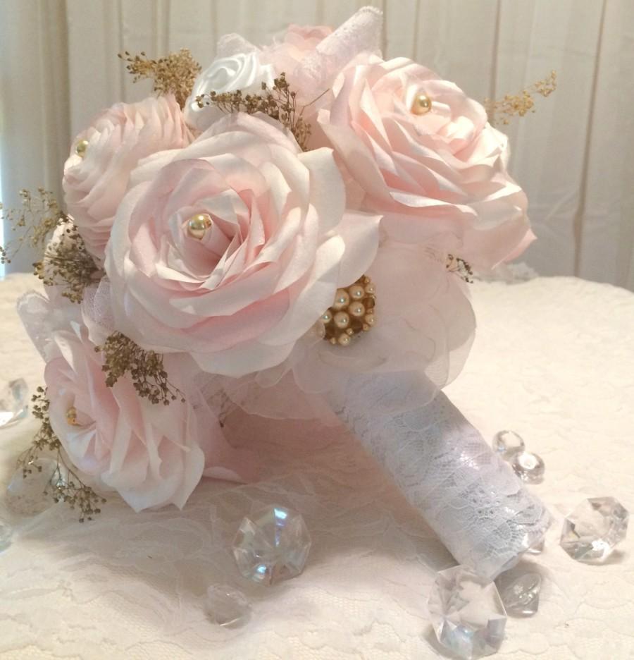 Bouquet Blush Paper Bouquet Alternative Bouquet Romantic Bouquet
