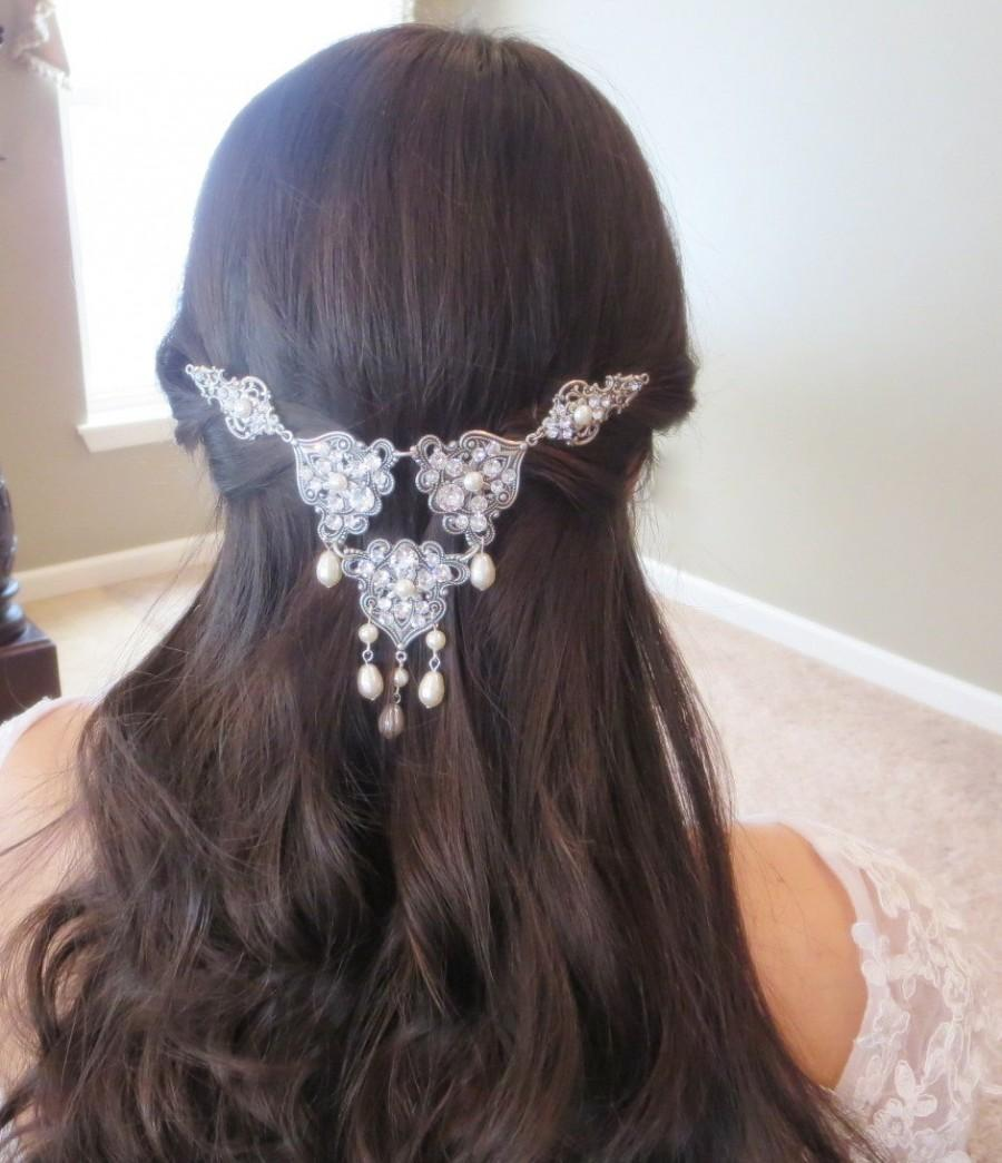 Mariage - Wedding headpiece, Bridal hair clip, Swarovski crystal headpiece, Vintage style hair comb, Bridal hair vine, Rhinestone headpiece