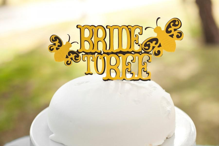 Bride To Bee Bridal Shower Cake Topper Black And Yellow Themed Party Meant Decorations Ble Decor