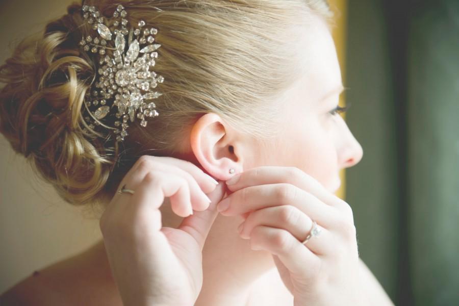 Mariage - Crystal Bridal Hair Comb, Rhinestone Wedding Hair Comb, Swaorvski Hair Accessories, Vintage Style Hairpiece, Art Deco Bridal Hair, FANCY