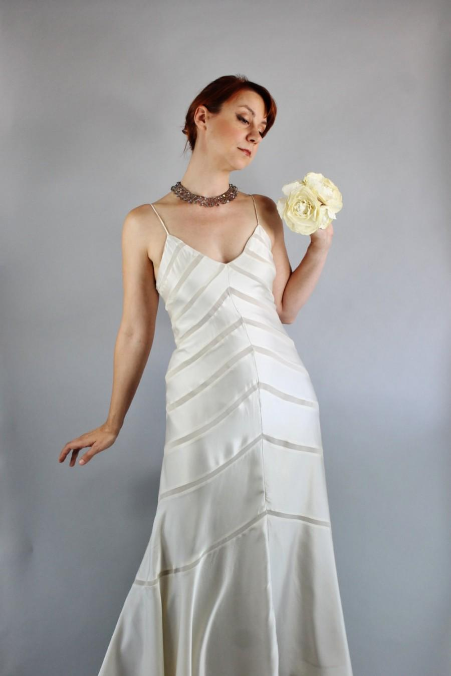 Vintage 90s does 30s cream silk bias spring summer wedding dress vintage 90s does 30s cream silk bias spring summer wedding dress slipdress art deco dress ombrellifo Image collections