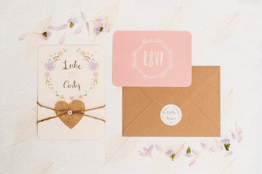 Wedding - Boho beautiful  -  Wedding invitation sample