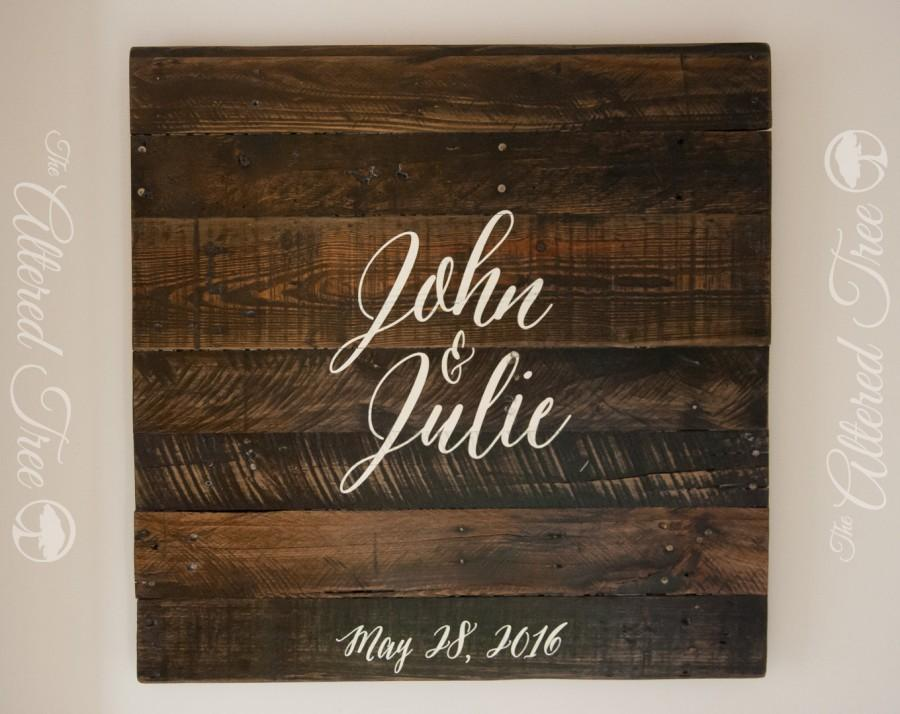 زفاف - Wedding Guest Book Alternative Pallet Sign