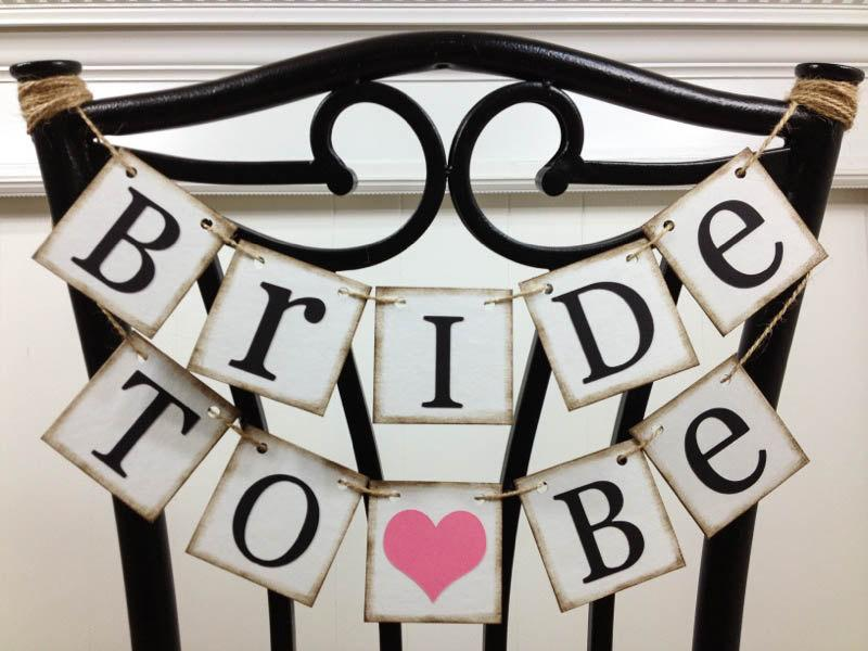 Bride To Be Mini Banner - Bride To Be Chair Sign - Bridal Shower Decorations - Bridal Shower Banners - CUSTOMIZE YOUR COLORS & Bride To Be Mini Banner - Bride To Be Chair Sign - Bridal Shower ...