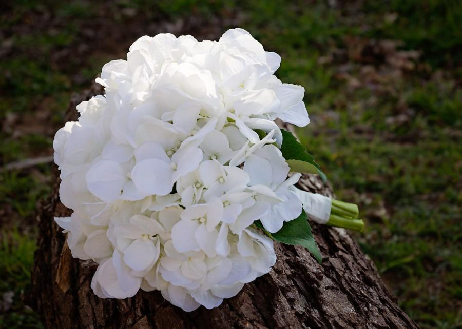 Nozze - Classy Hydrangea Wedding Bouquet (Great Keepsake Item)