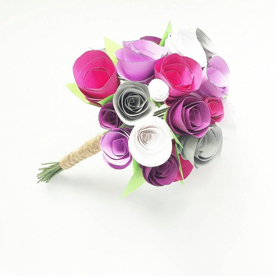 Mariage - Paper flowers bouquet