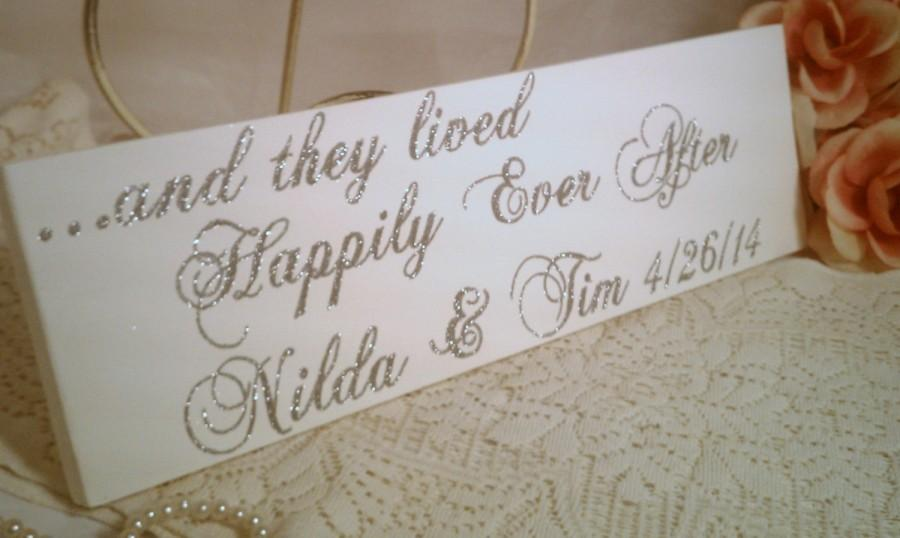 Wedding Sign Elegant Sparkles Happily Ever After Or Your Words