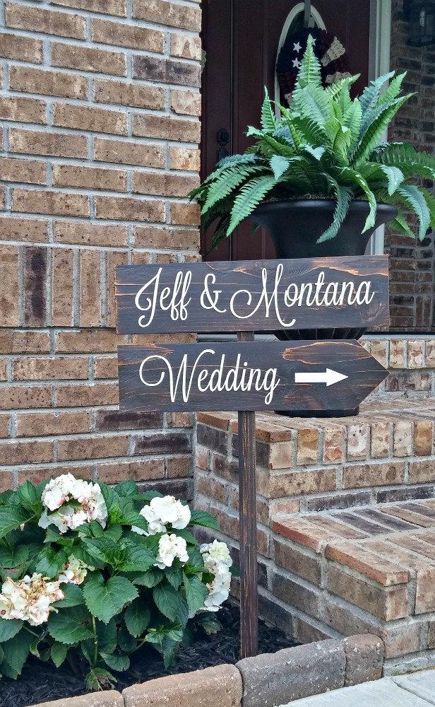 Свадьба - Wedding Signs, Rustic Wedding Signs, Personalized Wedding Signs, Wedding Signage, Personalized Wooden Signs, Beach Wedding, Country Wedding