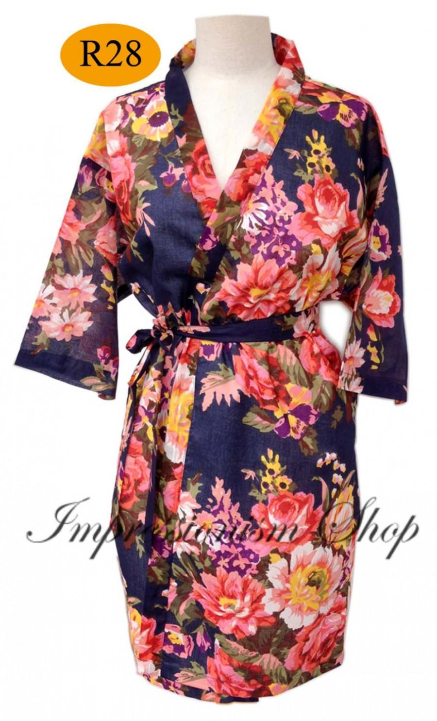 60cdfc616270b Navy Blue Robes, Bride Kimono, Kimono dress, Maid of honor, Spa robe beach,  Bachelorette party, kimono robe, bridesmaids robes