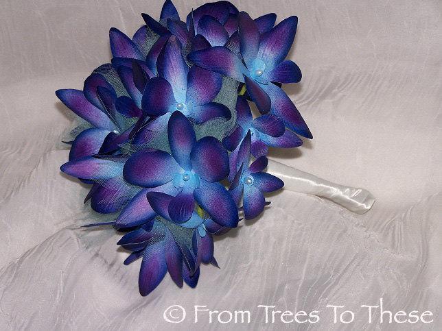 Hochzeit - Blue Dreams Bouquet Set