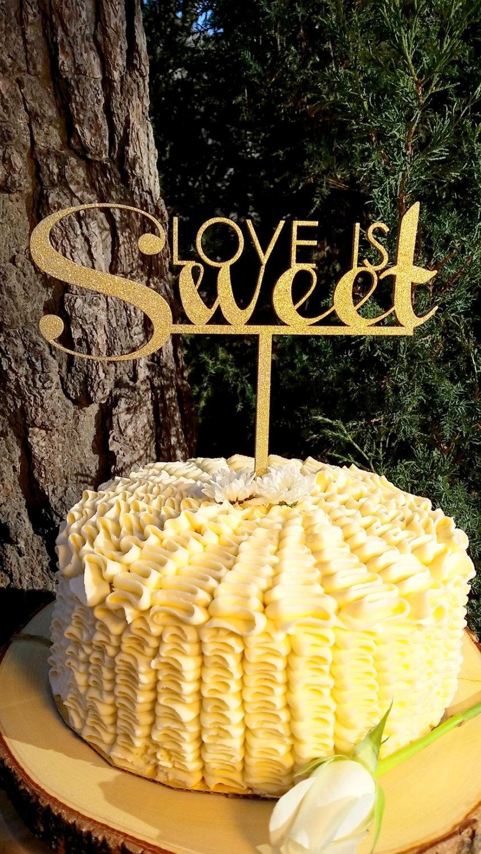 Свадьба - Love is Sweet Wedding Cake Topper Party