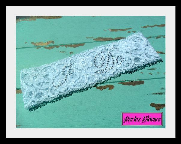 Mariage - SOMETHING BLUE Wedding Garter,Blue Lace Bridal Garter,Wedding Accessory,Rhinestone Garter,Vintage Lace Garter, I Do Garter,Your Choice Color