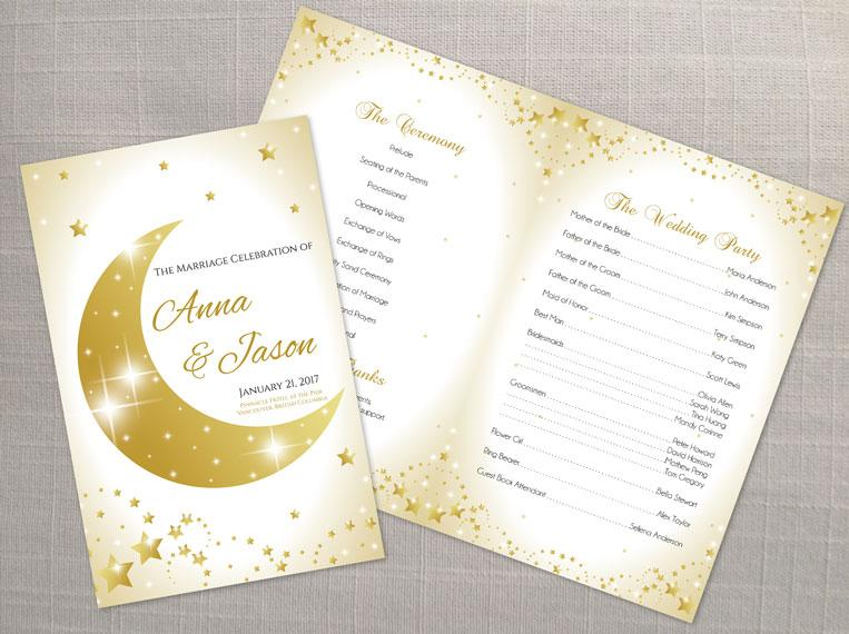 Mariage - DIY Printable Wedding Program Template