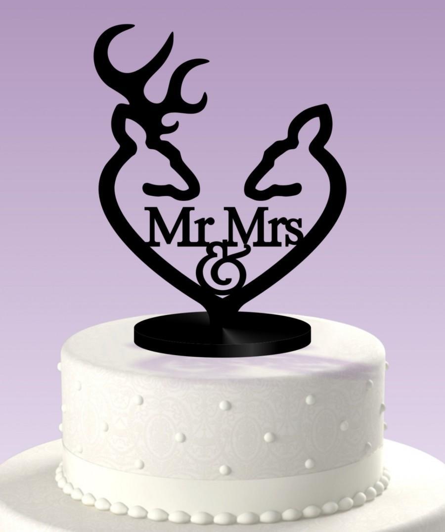 Mariage - Deer Cake Topper