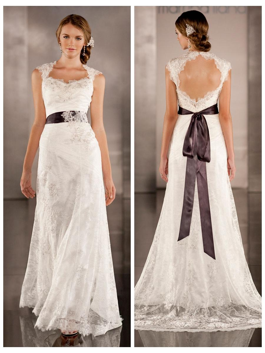 Luxurious Sheath Wedding Dress Overlay Lace Illusion Neckline And Keyhole Back