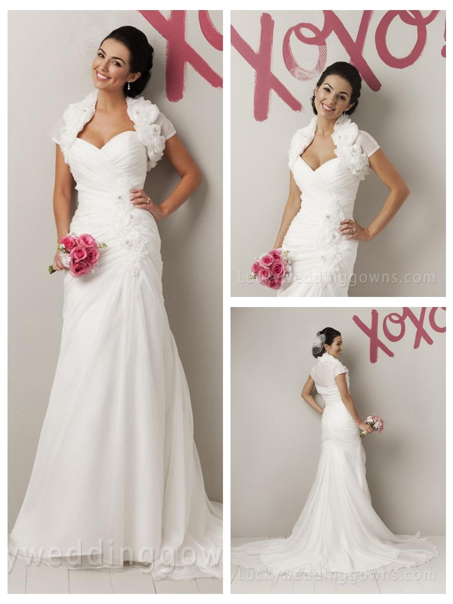 زفاف - Elegant Organza Sweetheart Spring Summer Designer Flower Wedding Dress