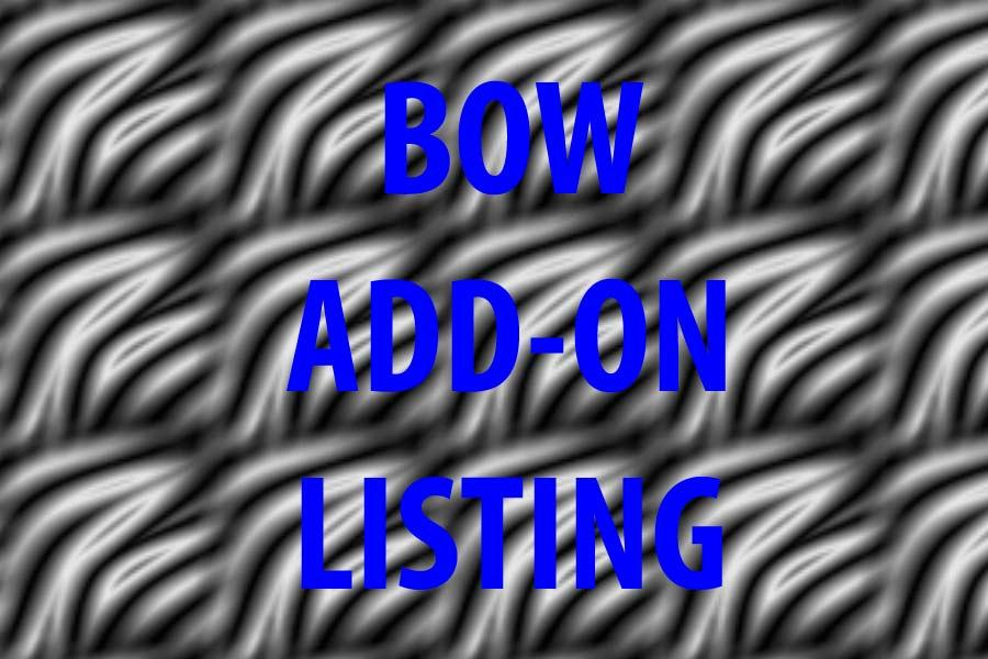 Hochzeit - Add-on listing for a bow