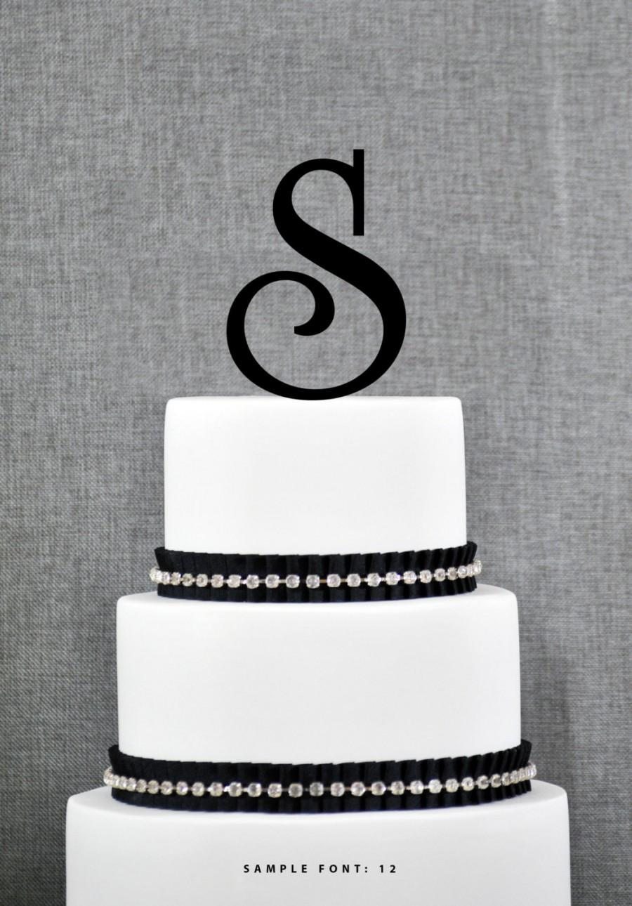 letter s monogram initial cake toppers personalized initial wedding