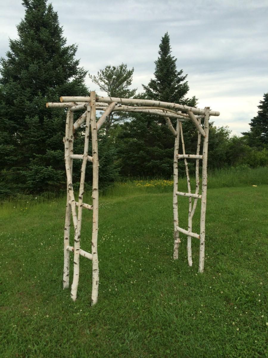 Mariage - Branched White Birch Wedding Arch