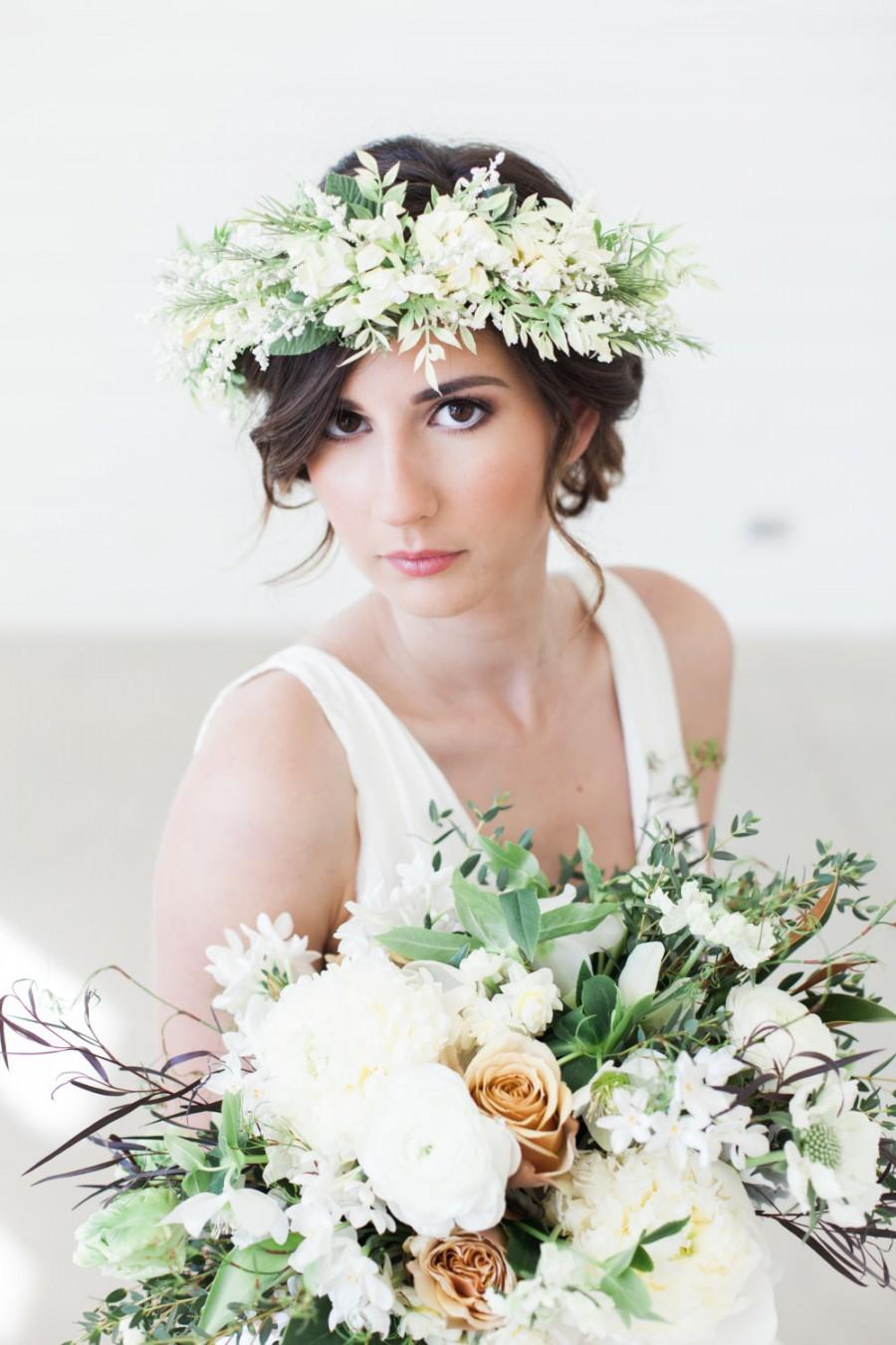 Bridal flower wreath ivory flower crown bridal hair crown bridal flower wreath ivory flower crown bridal hair crown floral hair wreath flower tiara flower crown headband flower headpiece dhlflorist Images