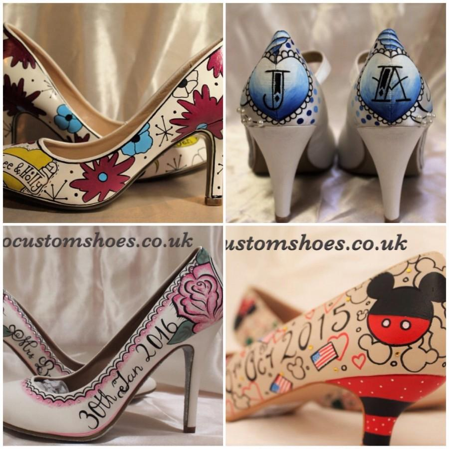 Hand Painted Custom Wedding Shoes Engagment Bridesmaids